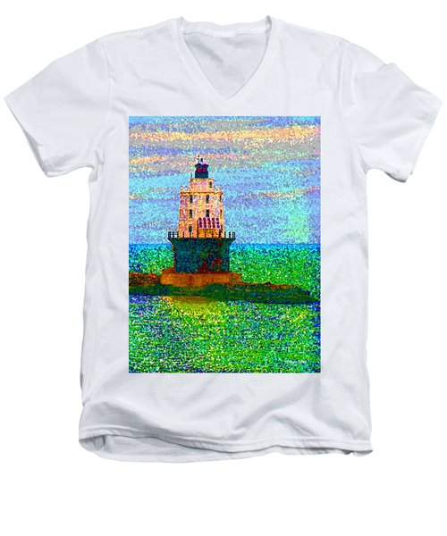 Men's V-Neck T-Shirt featuring the photograph Delight House by Clara Sue Beym
