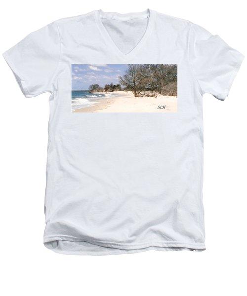 Deserted Island Men's V-Neck T-Shirt