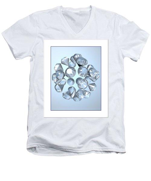 Men's V-Neck T-Shirt featuring the digital art Diamonds... by Tim Fillingim