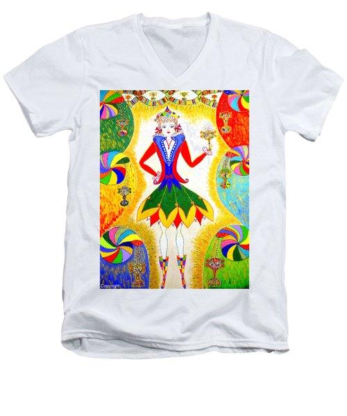 Dna Woman-eternal Life Men's V-Neck T-Shirt
