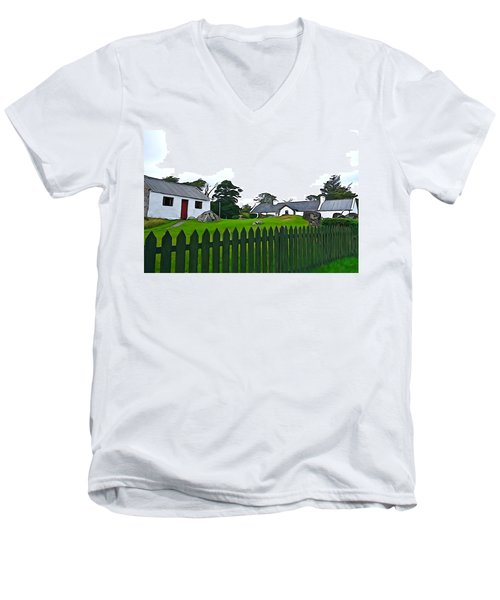 Men's V-Neck T-Shirt featuring the photograph Donegal Home by Charlie and Norma Brock