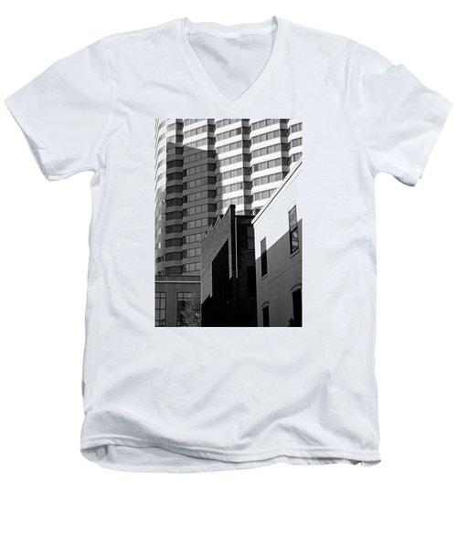 Downtown Lines Men's V-Neck T-Shirt by Jean Haynes