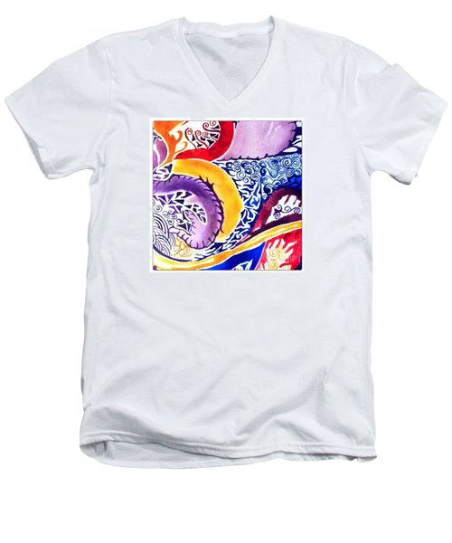 Dreaming In Watercolors Men's V-Neck T-Shirt