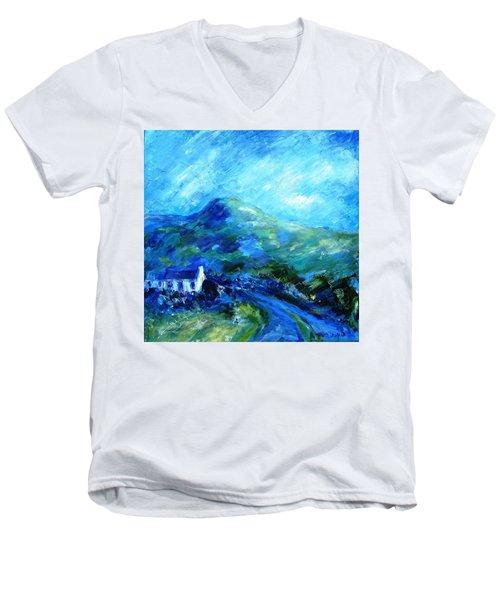 Eagle Hill Lane -ireland  Men's V-Neck T-Shirt by Trudi Doyle