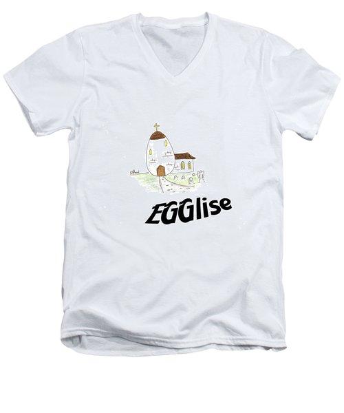 Egglise Men's V-Neck T-Shirt