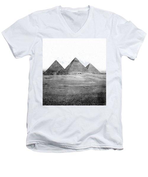 Egyptian Pyramids - C 1901 Men's V-Neck T-Shirt by International  Images