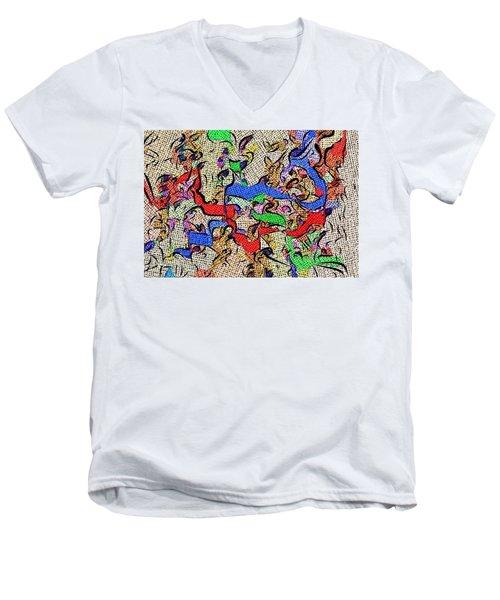 Fabric Of Life Men's V-Neck T-Shirt by Alec Drake