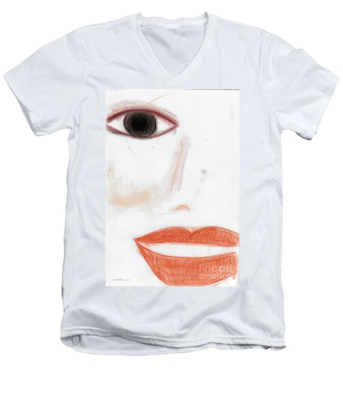 Men's V-Neck T-Shirt featuring the photograph Face by Vicki Ferrari