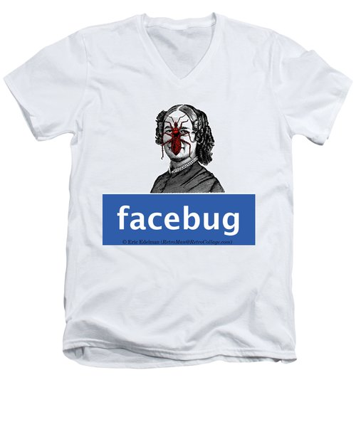 Facebug For Women Men's V-Neck T-Shirt by Eric Edelman