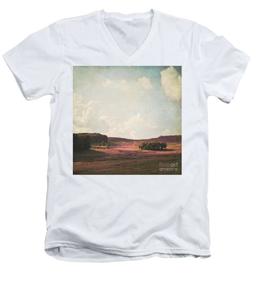 Fields Of Heather Men's V-Neck T-Shirt by Lyn Randle