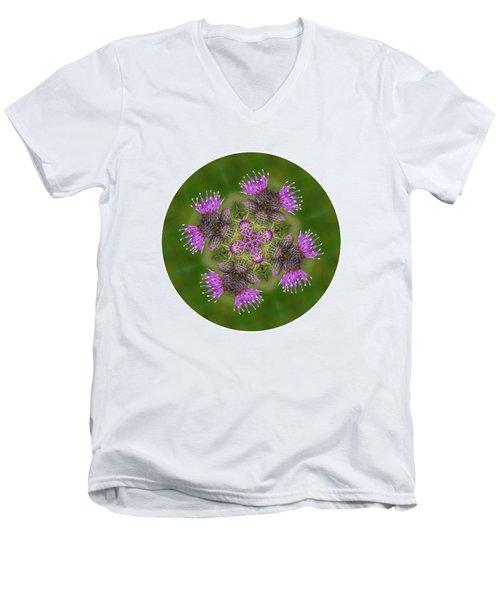 Men's V-Neck T-Shirt featuring the photograph Flower Of Scotland by Lynn Bolt