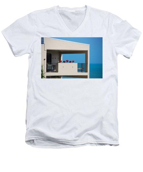 Men's V-Neck T-Shirt featuring the photograph Flower Pots Five by John Schneider
