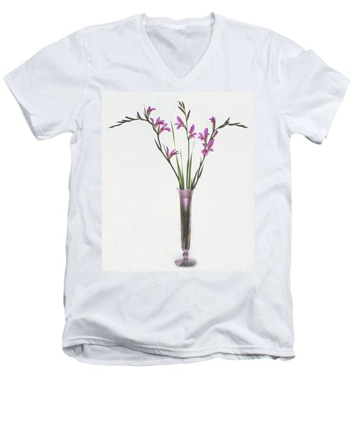 Freesias In Vase Men's V-Neck T-Shirt