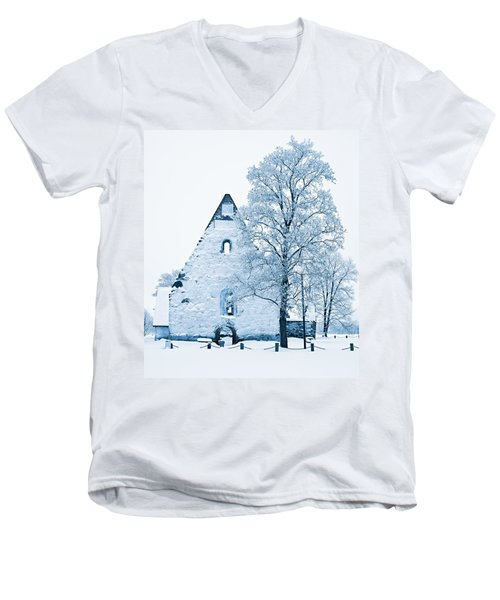 Frosty Ruins Men's V-Neck T-Shirt