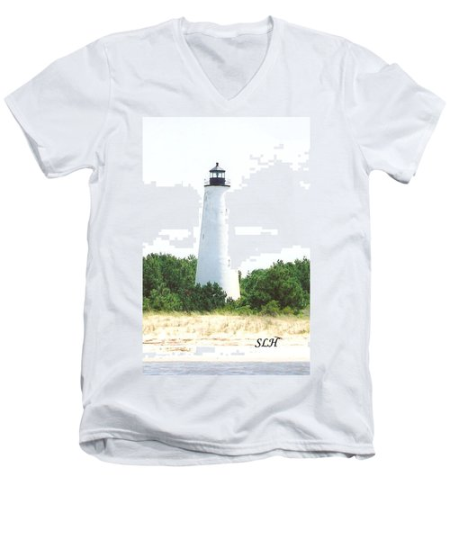 George Town Lighthouse Men's V-Neck T-Shirt