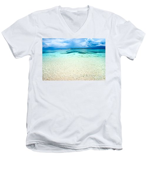 Men's V-Neck T-Shirt featuring the photograph Gili Meno - Indonesia. by Luciano Mortula