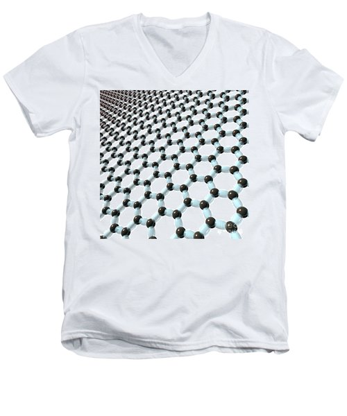 Men's V-Neck T-Shirt featuring the digital art Graphene 8 by Russell Kightley