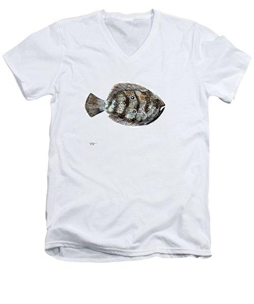 Gulf Flounder Men's V-Neck T-Shirt