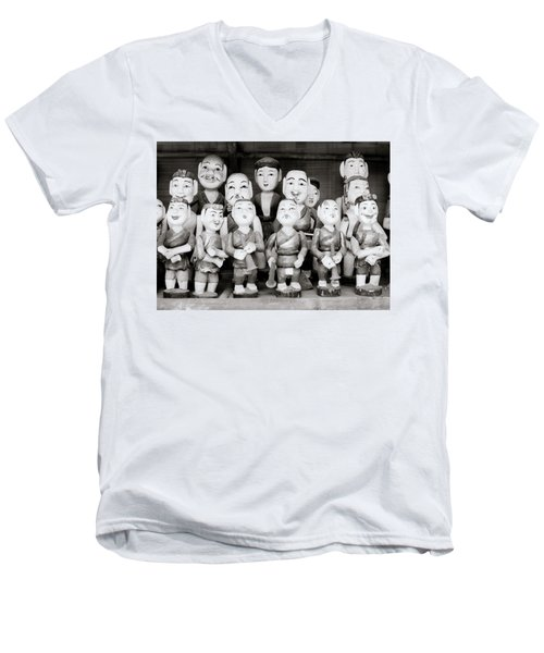 Hanoi Water Puppets Men's V-Neck T-Shirt by Shaun Higson