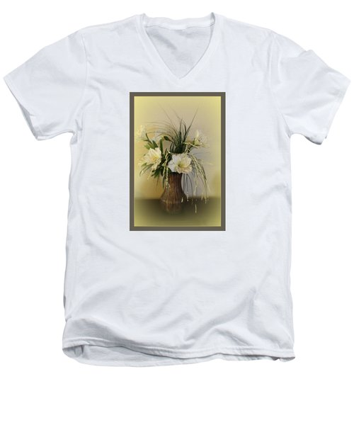 Men's V-Neck T-Shirt featuring the photograph Happiness by Sherri  Of Palm Springs
