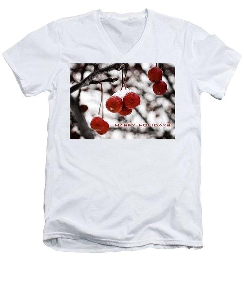 Happy Holidays Berries Men's V-Neck T-Shirt