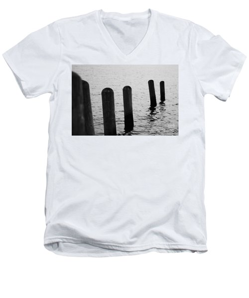 Men's V-Neck T-Shirt featuring the photograph Harbor Ties by Tony Cooper