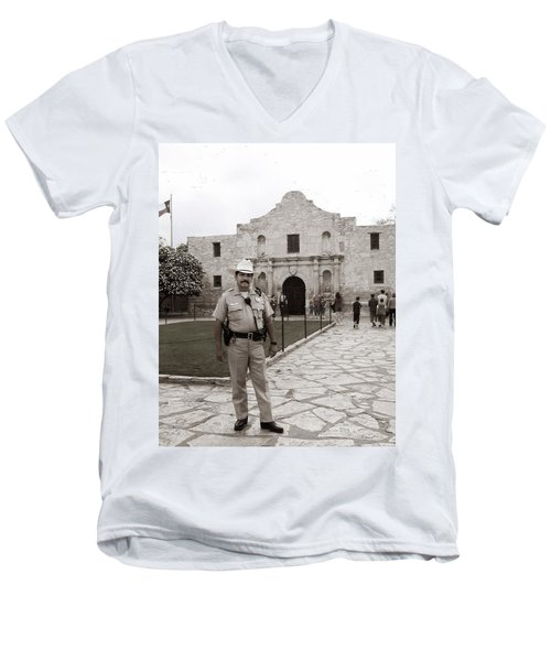He Guards The Alamo Men's V-Neck T-Shirt