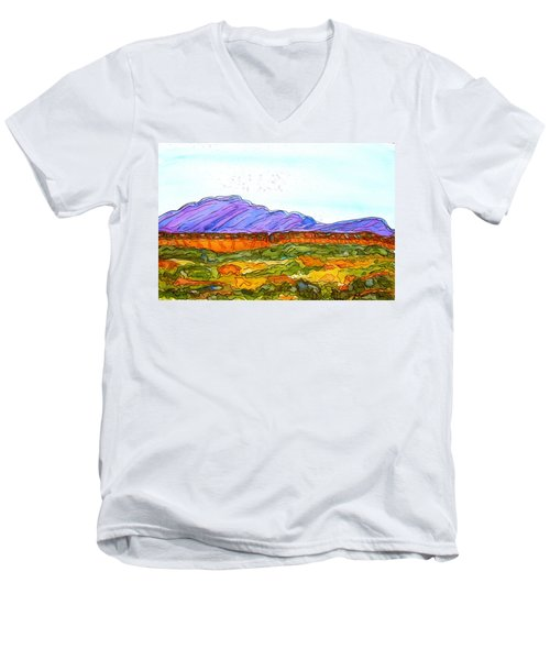 Hills That Nourish Men's V-Neck T-Shirt