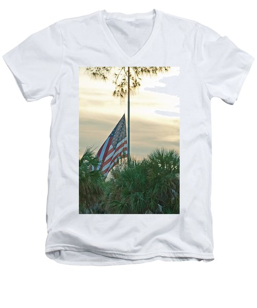Honoring A Hero Men's V-Neck T-Shirt
