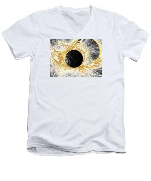 Men's V-Neck T-Shirt featuring the digital art Horizon by Kim Sy Ok