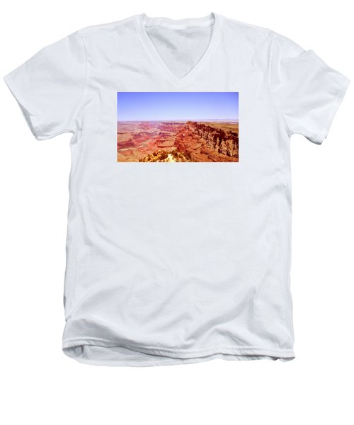 Men's V-Neck T-Shirt featuring the photograph horizon in Grand Canyon by Rima Biswas