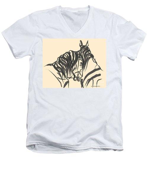 Horse - Together 9 Men's V-Neck T-Shirt