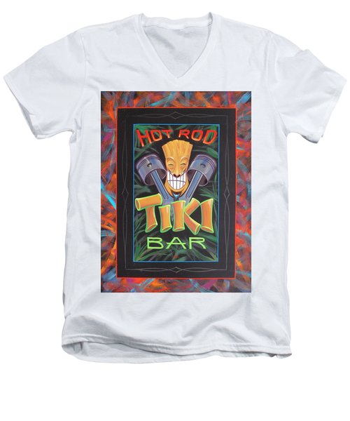 Hot Rod Tiki Bar Men's V-Neck T-Shirt