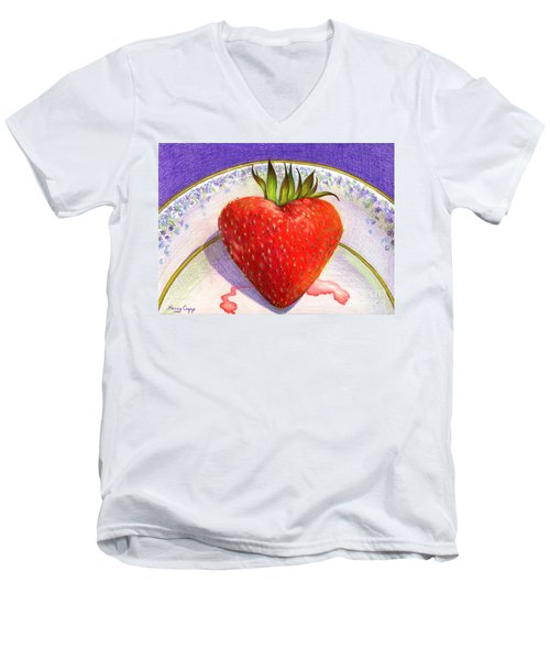 I Love You Berry Much Men's V-Neck T-Shirt