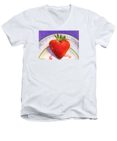 I Love You Berry Much Men's V-Neck T-Shirt