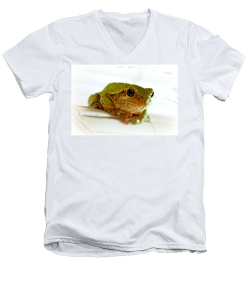 Men's V-Neck T-Shirt featuring the photograph Im Watching You by Peggy Franz