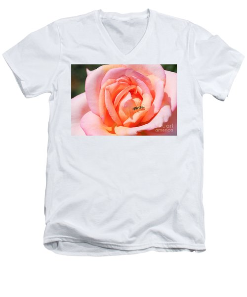 Men's V-Neck T-Shirt featuring the photograph In Search Of Nectar by Fotosas Photography