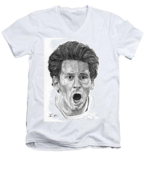 Intensity Lionel Messi Men's V-Neck T-Shirt