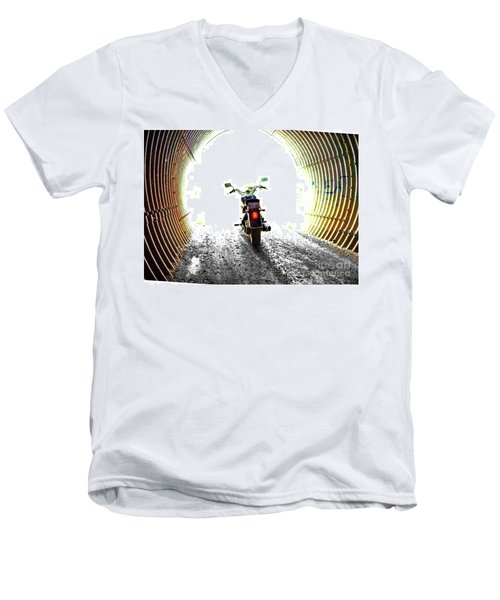Men's V-Neck T-Shirt featuring the photograph Into The Light by Blair Stuart