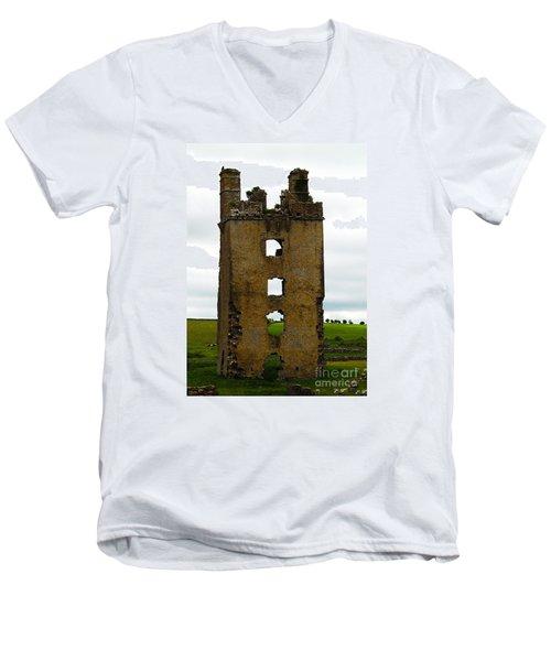Ireland- Castle Ruins II Men's V-Neck T-Shirt