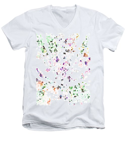Men's V-Neck T-Shirt featuring the digital art It's A Mad World  by Steve Taylor