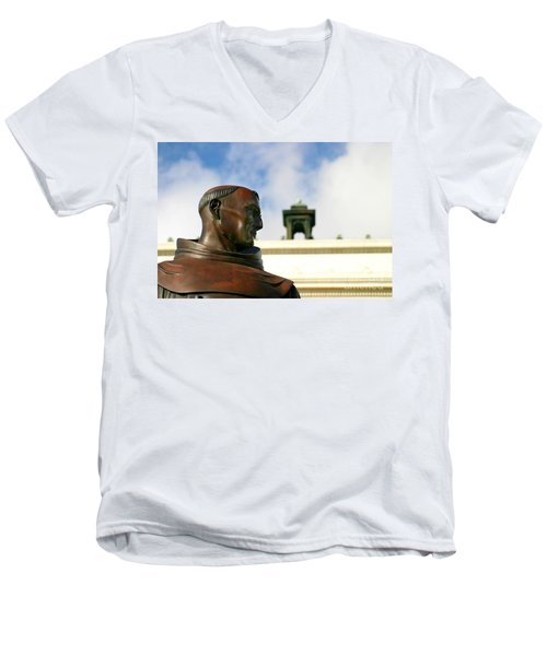 Junipero Serra Men's V-Neck T-Shirt