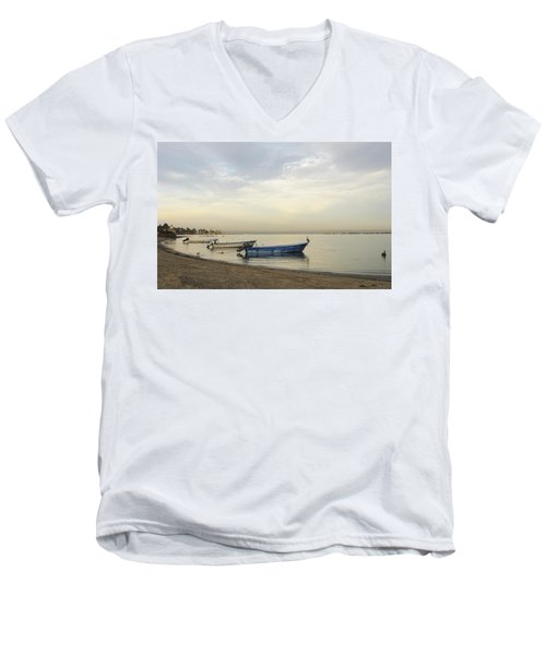 La Paz Waterfront Men's V-Neck T-Shirt by Anne Mott