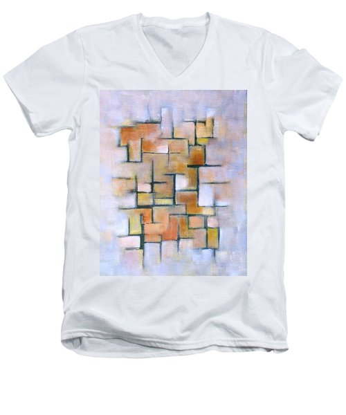 Line Series Men's V-Neck T-Shirt by Patricia Cleasby