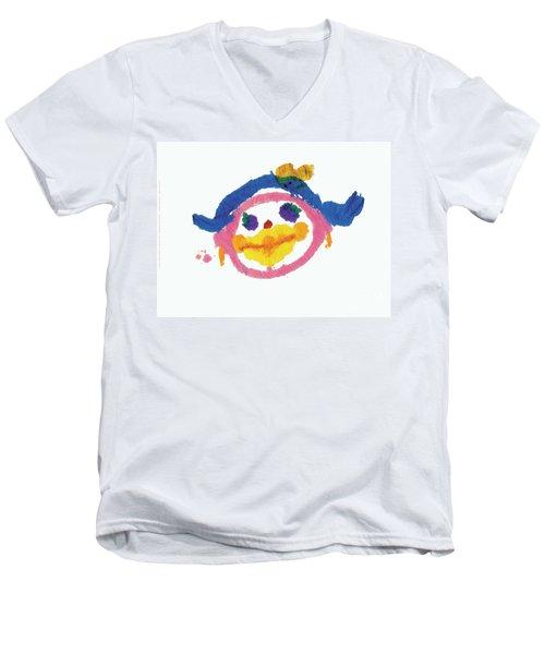 Lipstick Face Men's V-Neck T-Shirt