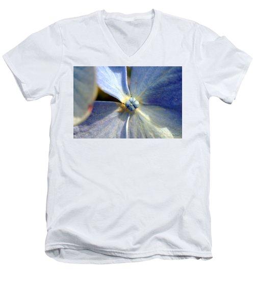 Little Blue Flower Men's V-Neck T-Shirt