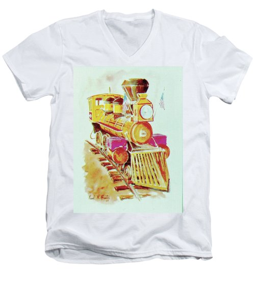 Locomotive Men's V-Neck T-Shirt