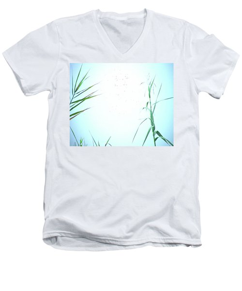 Men's V-Neck T-Shirt featuring the photograph Look Of Fog by Lizi Beard-Ward