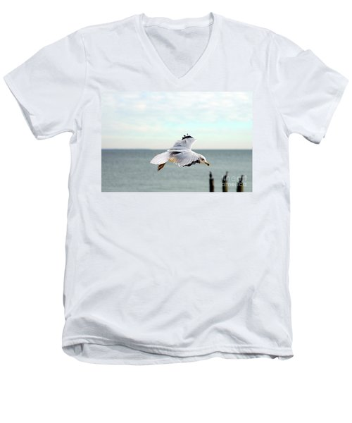 Men's V-Neck T-Shirt featuring the photograph Looking For Dinner by Clayton Bruster