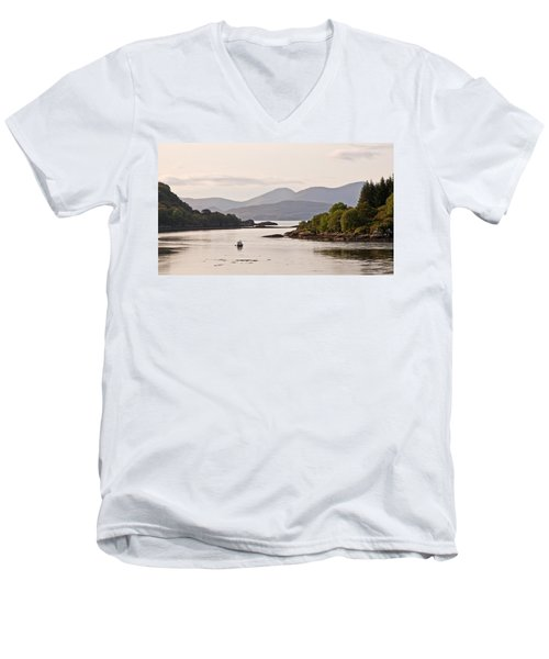 Looking To The Isle Of Mull Men's V-Neck T-Shirt